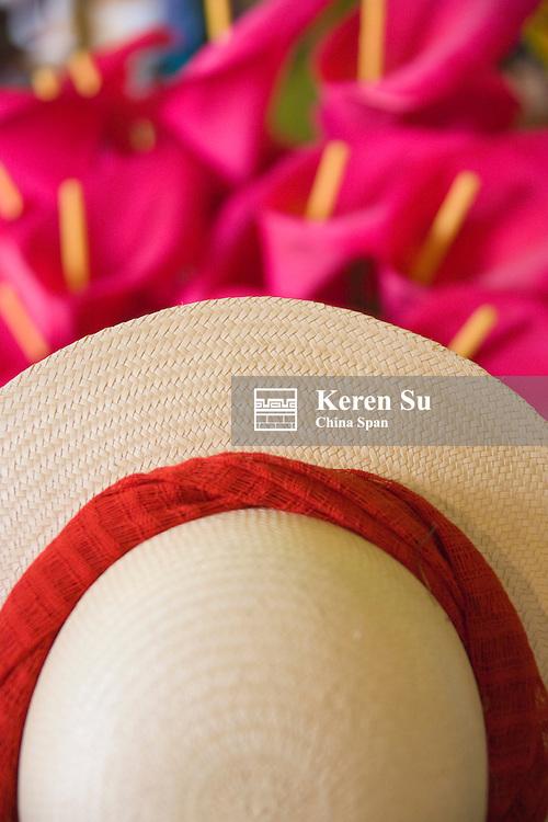 Straw hat, Merida, Yucatan State, Mexico