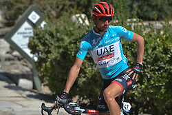 October 14, 2017 - Izmir, Turkey - Diego Ulissi from UAE Team Emirates poses for the pictures ahead of the start to the fifth stage - the 166 km Vestel Selcuk to Izmir, the second last stage of the 53rd Presidential Cycling Tour of Turkey 2017..On Saturday, 14 October 2017, in Izmir, Turkey. (Credit Image: © Artur Widak/NurPhoto via ZUMA Press)