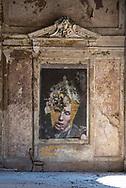Terme del Corallo or Acque della salute.Street-art work in the party hall