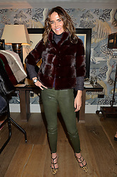 SOPHIE ANDERTON at the Mila Furs Trunk Show held at the Haymarket Hotel, 1 Suffolk Place, London on 1st November 2016.