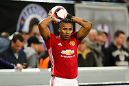 Manchester United's Antonio Valencia during the Europa League Quarter Final 1st leg match at RSCA Constant Vanden Stock Stadium, Anderlecht, Belgium. Picture date: April 13th, 2017.Pic credit should read: Charlie Forgham-Bailey/Sportimage