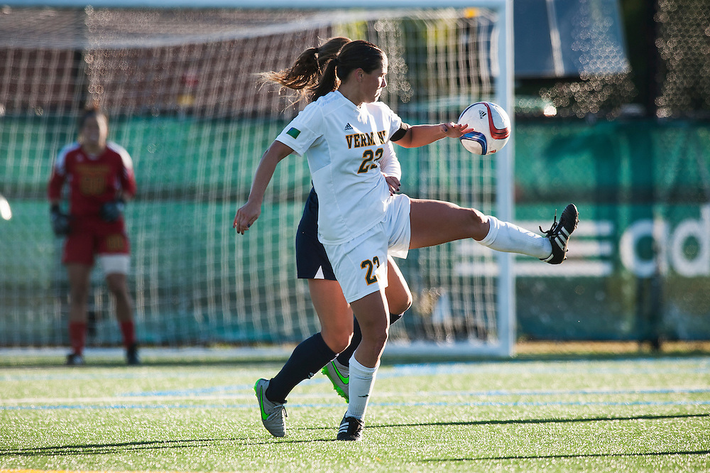 The women's soccer game between the Maine Blackbears and the Vermont Catamounts at Virtue Field on Thursday afternoon October 8, 2015 in Burlington, Vermont.