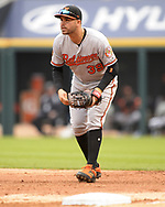 CHICAGO - MAY 01:  Renato Nunez #39 of the Baltimore Orioles fields against the Chicago White Sox on May 1, 2019 at Guaranteed Rate Field in Chicago, Illinois.  (Photo by Ron Vesely)  Subject:   Renato Nunez