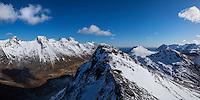 Summit of Volandstind with spring snow, Flakstadøy, Lofoten Islands, Norway