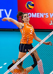 15-10-2018 JPN: World Championship Volleyball Women day 16, Nagoya<br /> Netherlands - USA 3-2 / Yvon Belien #3 of Netherlands