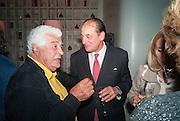 ANTONIO CARLUCCIO; UBERTO VANNI D'ARCHIRAFI, Launch party for the publication of Antonio Carluccio's memoirs, A Recipe for Life, . Carluccio's in Covent Garden Garrick St. London.  26 September 2012