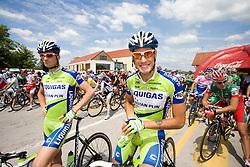 Jacopo Guarnieri  (ITA) of Liquigas before start of the 4th stage of Tour de Slovenie 2009 from Sentjernej to Novo mesto, 153 km, on June 21 2009, Slovenia. (Photo by Vid Ponikvar / Sportida)
