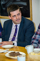 Pictured: Employability minister, Jamie Hepburn<br /> Employability minister, Jamie Hepburn MSP  today visited the Royal National Institute of Blind People and met participants on the Work First Scotland programme and some whio have found work via the programme as new statistics showing the number of people joining transitional employability services for individuals with disabilities and health conditions are unveiled. <br /> <br /> <br /> Ger Harley | EEm 6 December 2017