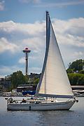Sailboat on Seattle's Lake Union