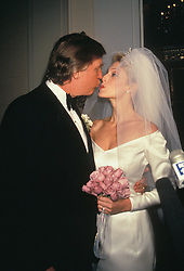 Aug 01, 1993; New York, NY, USA; Real state tycoon DONALD  TRUMP marries MARLA MAPLES. WEDDING (Credit Image: © Nancy Kaszerman/ZUMAPRESS.com)