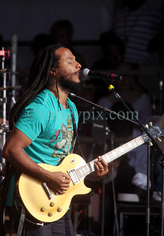 04 May 2012. New Orleans, Louisiana,  USA. .New Orleans Jazz and Heritage Festival. .Ziggy Marley on his 'Wild and Free Tour.'.Photo; Charlie Varley.
