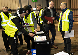 Edinburgh, Scotland, UK. 12th December 2019. First ones of votes arrive at Parliamentary General Election Count at the Royal Highland Centre in Edinburgh. Five constituencies are being counted in Edinburgh, Edinburgh West, Edinburgh South West, Edinburgh North & Leith, Edinburgh South and Edinburgh East. Iain Masterton/Alamy Live News