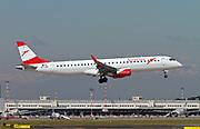 OE-LWF Austrian Airlines Embraer ERJ-195LR (Embraer 190-195) at Malpensa (MXP / LIMC), Milan, Italy