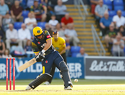 Glamorgan's Chris Cooke in action today <br /> <br /> Photographer Simon King/Replay Images<br /> <br /> Vitality Blast T20 - Round 8 - Glamorgan v Gloucestershire - Friday 3rd August 2018 - Sophia Gardens - Cardiff<br /> <br /> World Copyright © Replay Images . All rights reserved. info@replayimages.co.uk - http://replayimages.co.uk