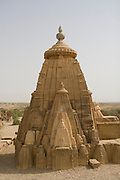 India, Rajasthan, Kuldhara village ruins near Jaisalmer. One of 84 villages inhabited by the prosperous, hardworking Paliwals. Established by the Kuldhar sub-caste of Paliwal Brahmins in the year 1291