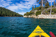 Kayaking in Emerald Bay, Emerald Bay State Park, Lake Tahoe, California USA