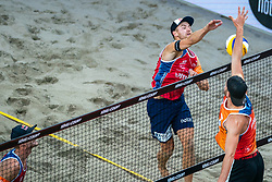 Anders Mol NOO in action during the third day of the beach volleyball event King of the Court at Jaarbeursplein on September 11, 2020 in Utrecht.
