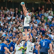 DUBLIN, IRELAND:  September 25:  Janko Swanepoel #19 of the Bulls wins a line out uncontested during the Leinster V Bulls United Rugby Championship match at Aviva Stadium on September 25th, 2021 in Dublin, Ireland. (Photo by Tim Clayton/Corbis via Getty Images)