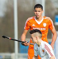 ROTTERDAM -  Daniel de Haan  (Neth.)    Practice Match Hockey : Netherlands Boys U18  v England U18 .  COPYRIGHT KOEN SUYK