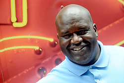 Former NBA Player Shaquille O'Neal pictured handing out donuts from a Krispy Kreme truck to celebrate their 80th anniversary in Times Square, New York City, NY, USA on July 13, 2017. Photo by Dennis VanTine/ABACAPRESS.COM