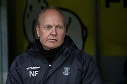 Cheftræner Niels Frederiksen (Brøndby IF) under kampen i 3F Superligaen mellem Brøndby IF og Lyngby Boldklub den 1. marts 2020 på Brøndby Stadion (Foto: Claus Birch).