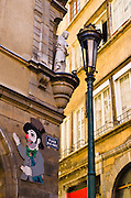 Restaurant Du Soleil in old town Vieux Lyon, France (UNESCO World Heritage Site)