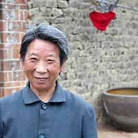 Asia, China, Yichang. Rural Chinese farmer wife.