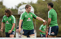 3 July 2013; Sean O'Brien and Mike Phillips, right, British & Irish Lions, during squad training ahead of their 3rd test match against Australia on Saturday. British & Irish Lions Tour 2013, Squad Training. Noosa Dolphins RFC, Dolphin Oval, Sunshine Beach, Queensland, Australia. Picture credit: Stephen McCarthy / SPORTSFILE