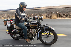 James Maloney riding his 1928 Indian Scout in the Motorcycle Cannonball coast to coast vintage run. Stage 14 (303 miles) from Spokane, WA to The Dalles, OR. Saturday September 22, 2018. Photography ©2018 Michael Lichter.