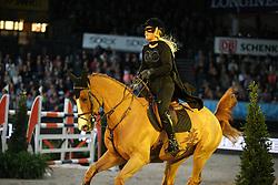 Zakariasson Linn, (SWE), Ugaulin du Bosquetiau<br /> Speed and handiness competition with costumes<br /> Stuttgart - German Masters 2015<br /> © Hippo Foto - Stefan Lafrentz