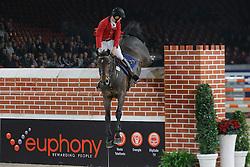De Grande Jean-Christophe (BEL) - Sacha van Pottelberg, 2nd in the Puissance<br /> Jumping Mechelen 2010<br /> © Dirk Caremans