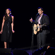 Johnnyswim (Amanda Sudano and Abner Ramirez) perform in the 2014 Portsmouth Singer Songwriter Festival at The Music Hall in Portsmouth, NH, on April 11, 2014