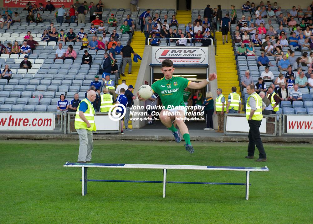 09-07-19. Meath v Laois - Eirgrid Leinster U-20 FC Semi-Final at O'Moore Park, Portlaoise.<br /> Connell Ahearne , Meath captain.<br /> Photo: John Quirke / www.quirke.ie<br /> ©John Quirke Photography, Unit 17, Blackcastle Shopping Cte. Navan. Co. Meath. 046-9079044 / 087-2579454.