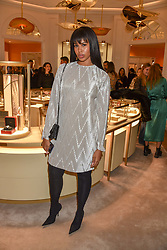 Sabrina Dhowre at the reopening of the Cartier Boutique, New Bond Street, London, England. 31 January 2019. <br /> <br /> ***For fees please contact us prior to publication***
