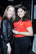 Coach executive Margaret Coady and Step Up student honoree Kimberly with her award