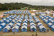 2016/10/05 – Muisne, Ecuador: Shelter number one of Muisne, Ecuador, houses a total of 165 families, 5th October 2016. Muisne is one of the poorest areas in the country and was the one most affected, having a quarter of all the people displaced by the earthquake. Many of these people intend to go back to the place where they lived, even if the Government doesn't offer any help to reconstruct houses in those areas since they are consider high-risk zones. On the Province of Muisne, there are five Government shelters that house 563 families, according to Government figures from August. (Eduardo Leal)