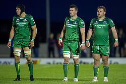 September 9, 2017 - Galway, Ireland - Ultan Dillane, James Cannon and Finlay Bealham of Connacht during the Guinness PRO14 rugby match between Connacht Rugby and Southern Kings at the Sportsground in Galway, Ireland on September 9, 2017  (Credit Image: © Andrew Surma/NurPhoto via ZUMA Press)