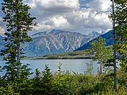 An HDR composite of Kluane Lake in Yukon Territory, Canada