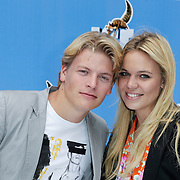 NLD/Haarlem/20120627 - Filmpremiere Ice Age 4, Thomas Berge een partner Myrthe Mylius