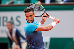 June 1, 2018 - Paris, U.S. - PARIS, FRANCE  - JUNE 01 JUN 01: DAMIR DZUMHUR.(BIH) during the French Open on June 01, 2018 at Stade Roland-Garros in Paris, France. (Photo by Chaz Niell/Icon Sportswire) (Credit Image: © Chaz Niell/Icon SMI via ZUMA Press)
