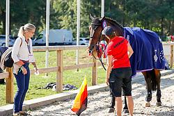 RIESENBECK - FEI Jumping European Championship Riesenbeck 2021<br /> <br /> Stargold<br /> Impressionen vom Abreiteplatz<br /> Second Qualifying Competition - Round 2 <br /> Team Final<br /> <br /> Hörstel-Riesenbeck, Reitanlage Riesenbeck International<br /> 03. September 2021<br /> © www.sportfotos-lafrentz.de/Stefan Lafrentz
