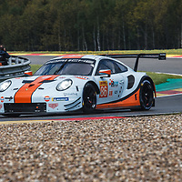 #86, Gulf Racing, Porsche 911 RSR, LMGTE Am, driven by: Michael Wainwright, Ben Barker, T. Preining at FIA WEC Spa 6h 2019 on 04.05.2019 at Circuit de Spa-Francorchamps, Belgium