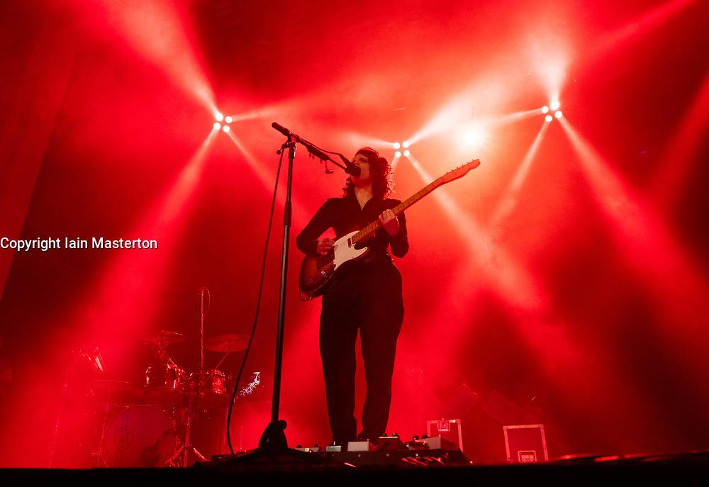 Edinburgh, Scotland, UK. 11 August 2019. Anna Calvi playing at Leith Theatre during the Edinburgh International Festival, Scotland, UK.Credit; Iain Masterton/Alamy Live News ++ Editorial Use Only ++