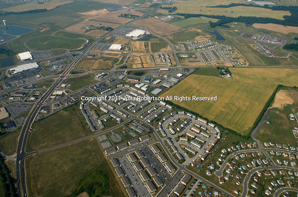 Aerial view of Middletown, Delaware,
