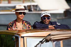 Spike Lee and his wife Tonya Lewis Lee arrive to the Excelsior Hotel pier during the 75th Venice International Film Festival (Mostra) in Lido, Venice, Italy on August 30, 2018. Photo by Marco Piovanotto/ABACAPRESS.COM