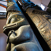 A Tsimshian Totem Pole from the 19th century from the American Northwest Coast. It's on display at the Smithsonian National Museum of Natural History on the National Mall in Washington DC.