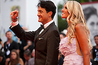 Giulio Base and Tiziana Rocca, at the gala screening for the film Everest and opening ceremony at the 72nd Venice Film Festival, Wednesday September 2nd 2015, Venice Lido, Italy.