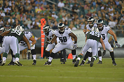 Josh Andrews #68 of the Philadelphia Eagles against the New York Jets at Lincoln Financial Field on August 28, 2014 in Philadelphia, Pennsylvania. The Eagles won 37-7. (Photo by Drew Hallowell/Philadelphia Eagles)