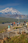 Mt McKinley also known as Denali, from the Eielson Visitor Center, Denali National Park, Alaska.