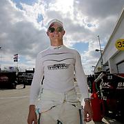 Gray Gaulding, driver of the #23 Toyota is seen during practice for the 60th Annual NASCAR Daytona 500 auto race at Daytona International Speedway on Friday, February 16, 2018 in Daytona Beach, Florida.  (Alex Menendez via AP)